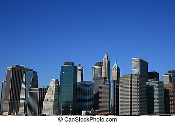 Lower Manhattan - A view of the Lower Manhattan skyline