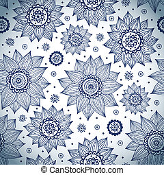 Blue sunflower pattern