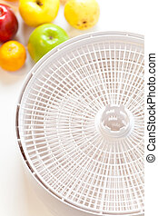 Food Dehydrator - Close-up of food dehydrator racks