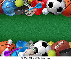 deporte, y, actividades, frontera