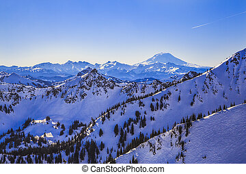Mt Adams from Crystal Nountain - Mt Adams from Crystal...