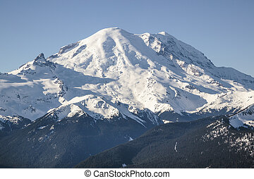 Mt. Rainier eastern face - A view of Mt. Rainier in Mt....