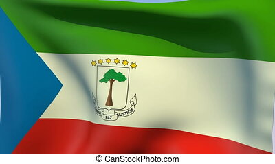 Flag of Equatorial Guinea - Flags of the world collection -...