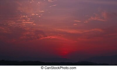 Sunrise Time Lapse - time lapse footage of a tropical...