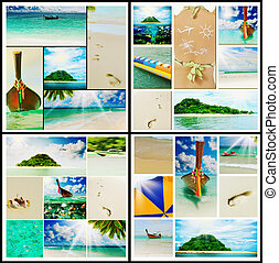 Beautiful holiday pictures - Collage with beautiful holiday...