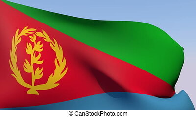 Flag of Eritrea - Flags of the world collection - Eritrea