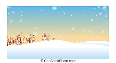 Winter landscape - This illustration is a common natural...