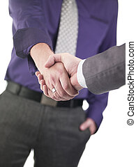 doctor shaking hands on success - Doctor shaking hands on...