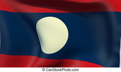 Flag of Laos - Flags of the world collection - Laos