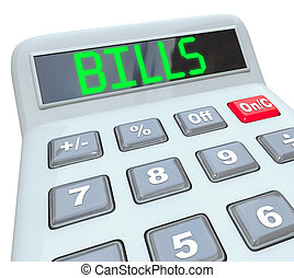 Bills - Word on Calculator for Payment of Expenses - A...