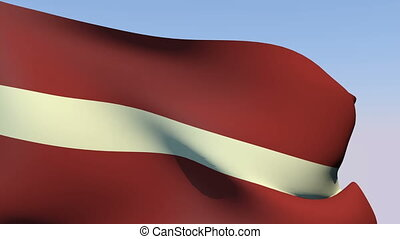 Flag of Latvia - Flags of the world collection - Latvia