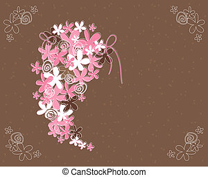 wedding bouquet abstract - an illustration of a wedding...