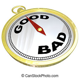 Compass - Leading to Path of Good vs Bad