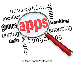 How to Find Apps - Magnifying Glass - A magnifying glass...