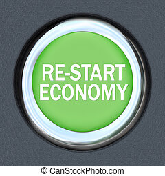 Re-Start Economy - Car Push Button Starter - A green car...