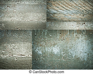 Texture set of concrete wall grunge background