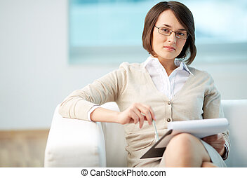 Personal counselor - Portrait of a friendly counselor being...