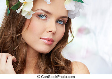 Peaceful spring - Peaceful portrait of a charming young lady...