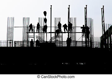 Building worker - Workers on a building in construction