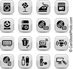 electronic home devices icons - Electronic Devices Icons Set...