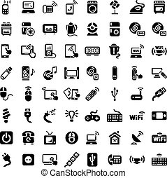 big electronic devices icons set - 64 Electronic Devices...