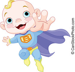 Super Baby Boy - Illustration of Super Hero Baby Boy