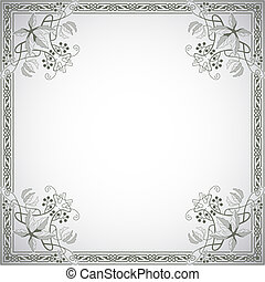 Decorative frame in the style of vi