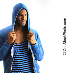 Young male fashion model - Young African American male model...