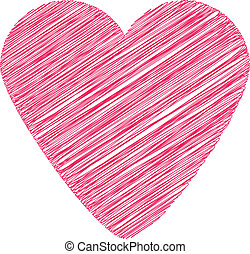 Scribbled heart shape. - Scribbled heart shape graphic...