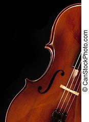 Cello over Black