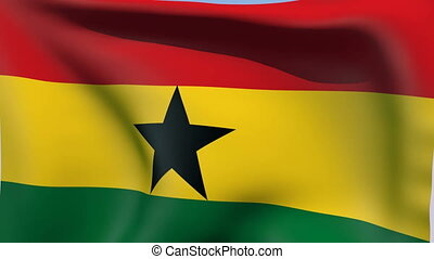 Flag of Ghana - Flags of the world collection - Ghana