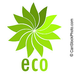 Eco logo - Eco symbol. Vector illustration