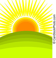 Sunrise - vector illustration