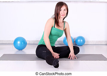 beautiful girl ready for fitness