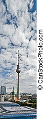 Fernsehturm - View of Fernsehturm, television tower near the...
