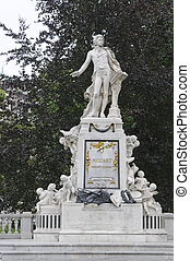 Mozart Monument in Maria Theresien square, Vienna, Austria