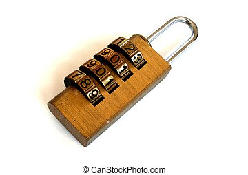 Combination lock set to 2008