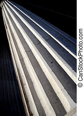 Greek Pillar - Architecture Detail Of A Greek Or Roman Style...