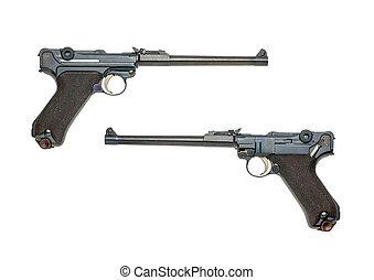 alemão, artilharia, Luger