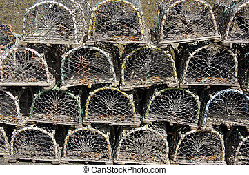 Stack of creels - Stack of fishing creels at Craster harbour...