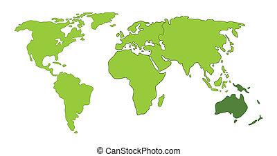mundo,  Australia, mapa