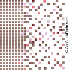 Brown color mosaic background - Simple vector mosaic...