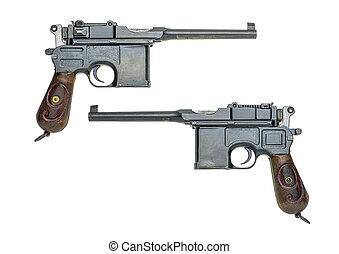 Alemán, pistola, modelo, 1896/1912, (Mauser)