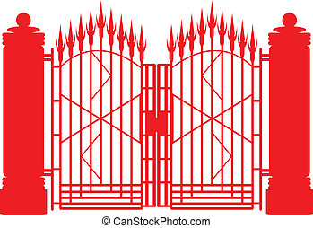 Iron gate. - Metal iron gate design.