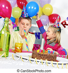 birthday party - children at birthday party