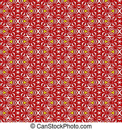 christmas pattern - retro texture with red stars and shapes...