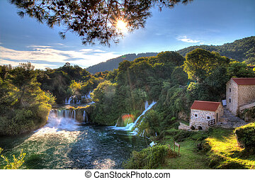 Krka lookout - Beautiful panorama over a couple of...