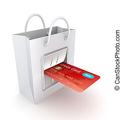 Payments conceptIsolated on white background3d rendered