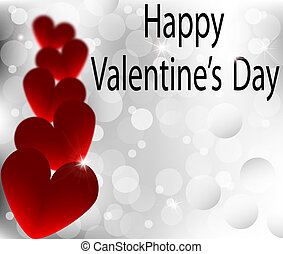 Happy Valentines Day silver abstrac