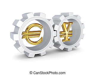 Forex conceptIsolated on white background3d rendered